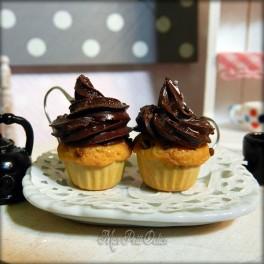 Chocolate Cupcakes Dangle Earrings