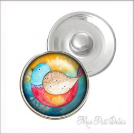 Sweet Bird Noosa Style Snap Button, chunk glass button
