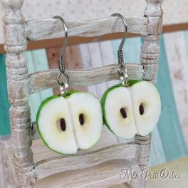 miniature-food-green-apple-fruit-clay-fimo-earrings-sweet