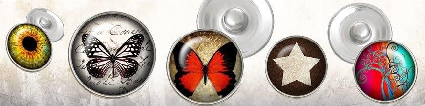 Glass Snap Buttons 18mm